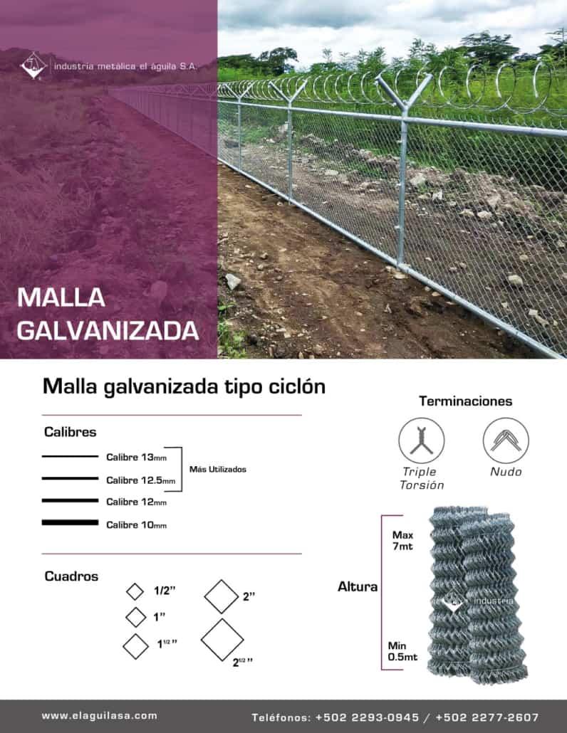 Malla Galvanizada Guatemala
